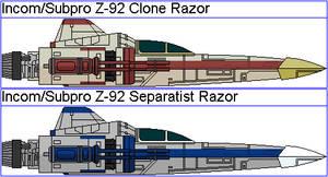 Incom/Subpro Z-92 Clone Wars Razors
