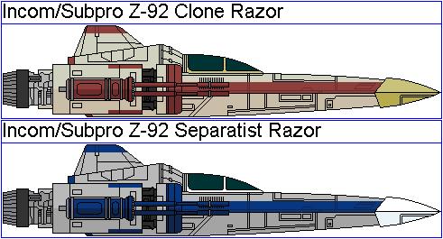 Incom/Subpro Z-92 Clone Wars Razors by GAT-X139