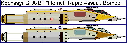Koensayr BTA-B1 'Hornet' Rapid Assault Bomber by GAT-X139