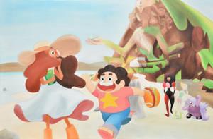 Steven Universe Oil Painting by StevenQuartzUniverse