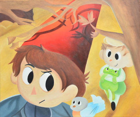 Over The Garden Wall Oil Painting