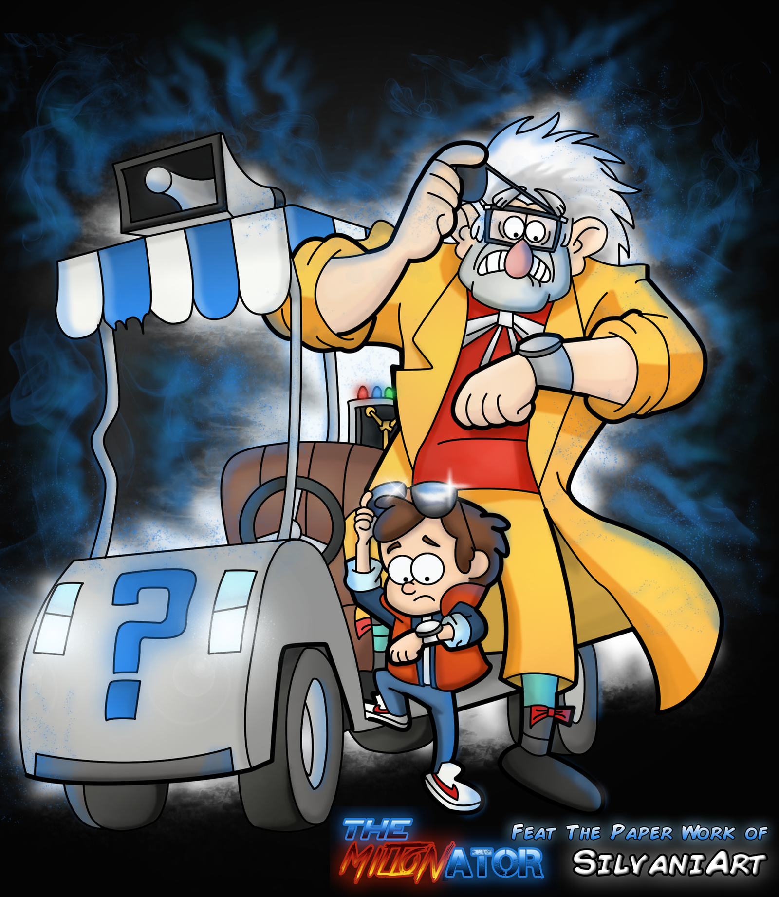 Gravity falls x back to future feat silvaniart by - Gravity movie 4k ...