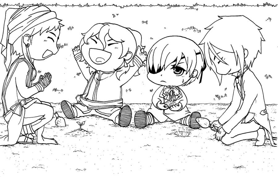 black butler chibi by em u - Black Butler Chibi Coloring Pages