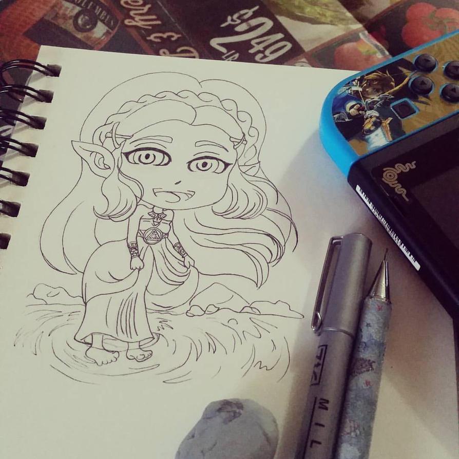 Zelda WIP by Angel-Naomi