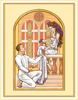 R and A's wedding invitation