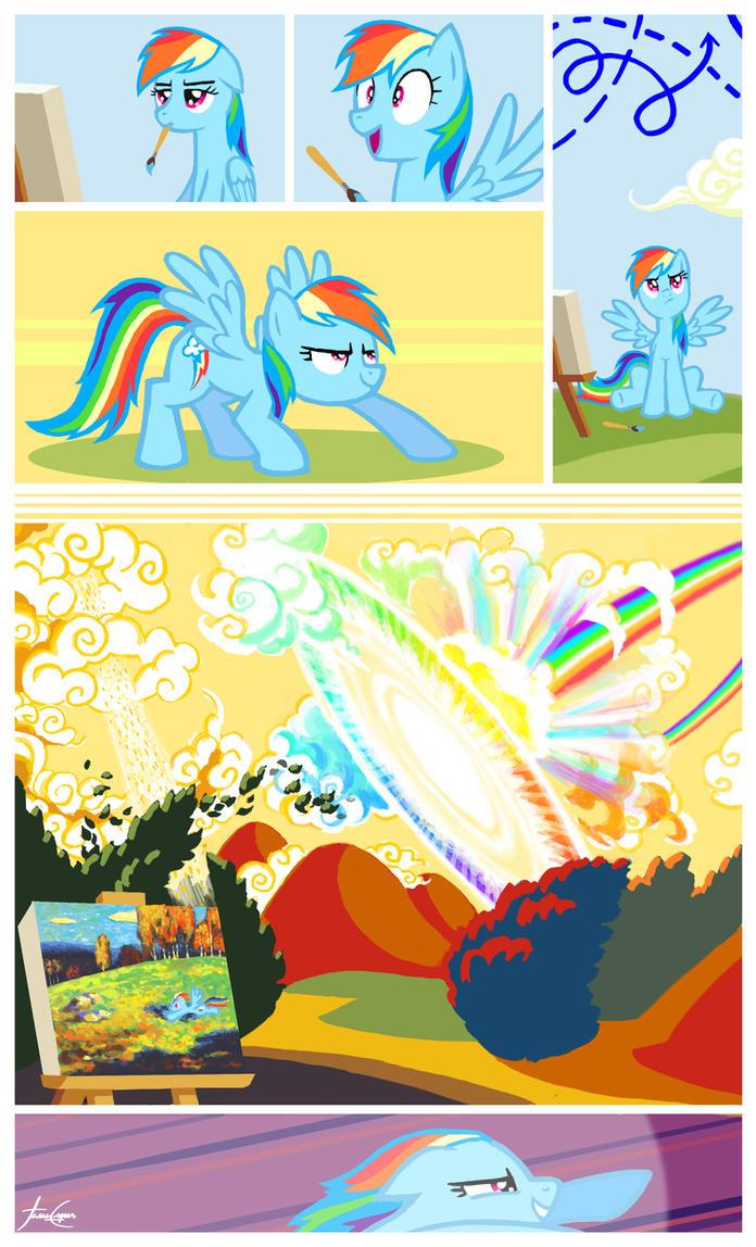 Rainbow Kandinsky - Art series #4 by janeesper
