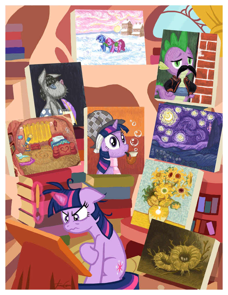 Twilight van Gogh - Art series #5 by janeesper