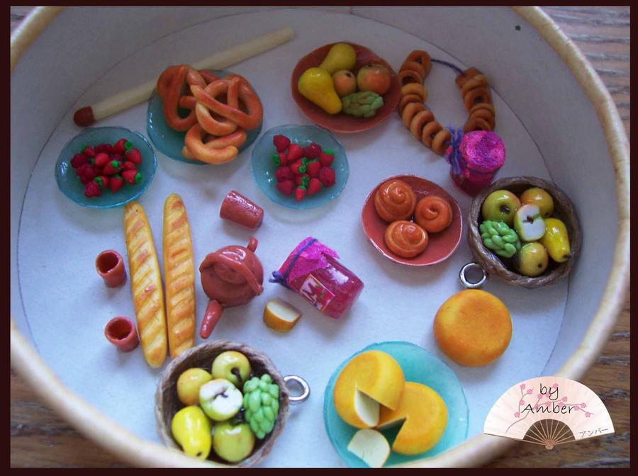 еда для барби из пластилина обычного