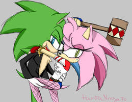 Scourge and Rosy-Joker and Harley