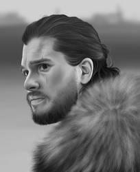 Jon Snow Digital Drawing by usmelllikedogbuns