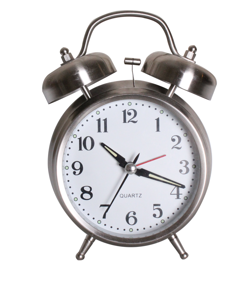 Vintage Alarm Clock Stock PNG By Mann E Quin