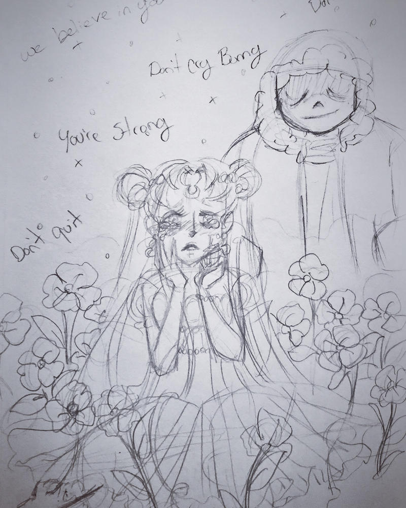 Dont cry Bunny || rough pencils by cherryhobbit