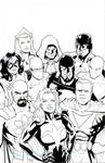 Sentinels homage to Justice League #1