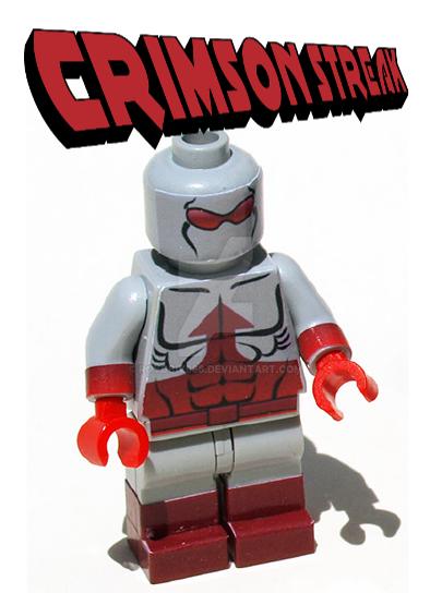 Crimson Streak Mini Figure by roygbiv666