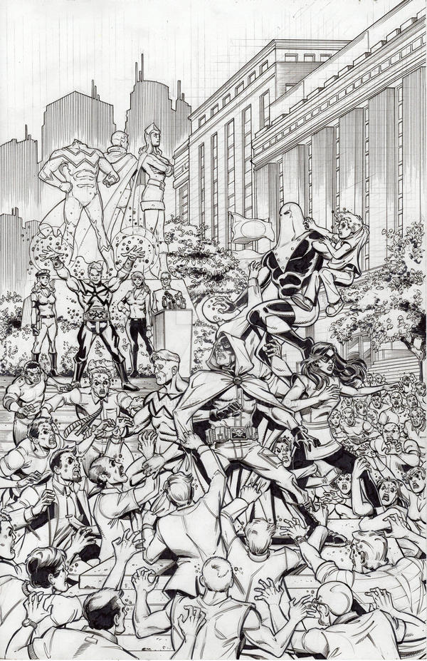 Sentinels 269 Black Sun - Cover Inks by roygbiv666