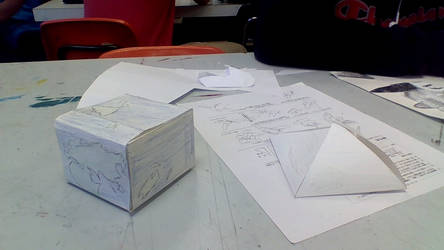 Cube and pyramid project by BrandonDevers98
