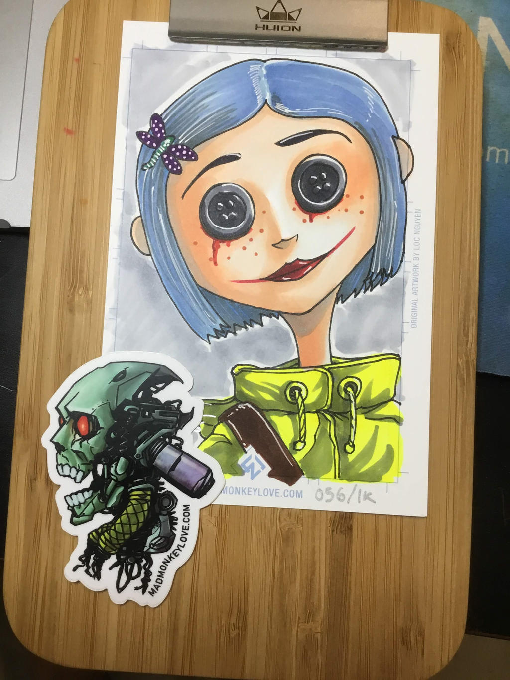 Coraline With Button Eyes By Madmonkeylove On Deviantart