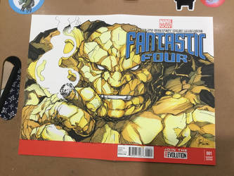 Fantastic Four Sketch Cover by Madmonkeylove