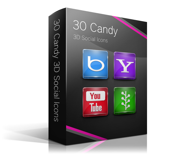 30 Candy 3D Social Icons by watracz