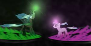Twilight Sparkle vs Queen Chrysalis