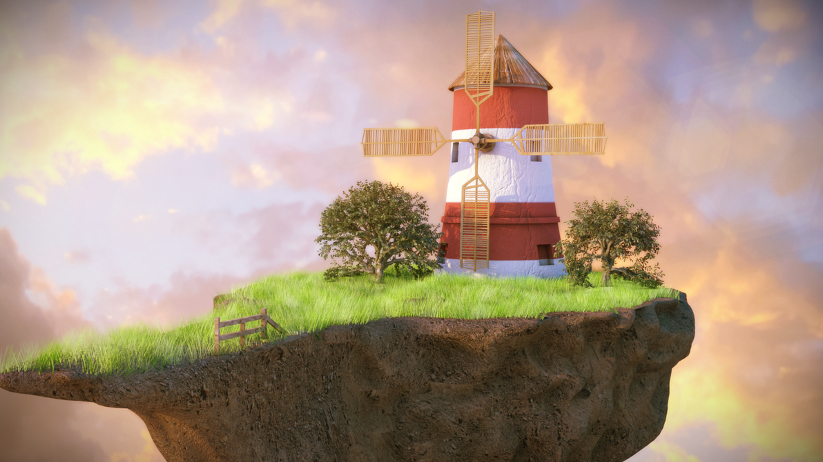 Windmill for the land by Izeer