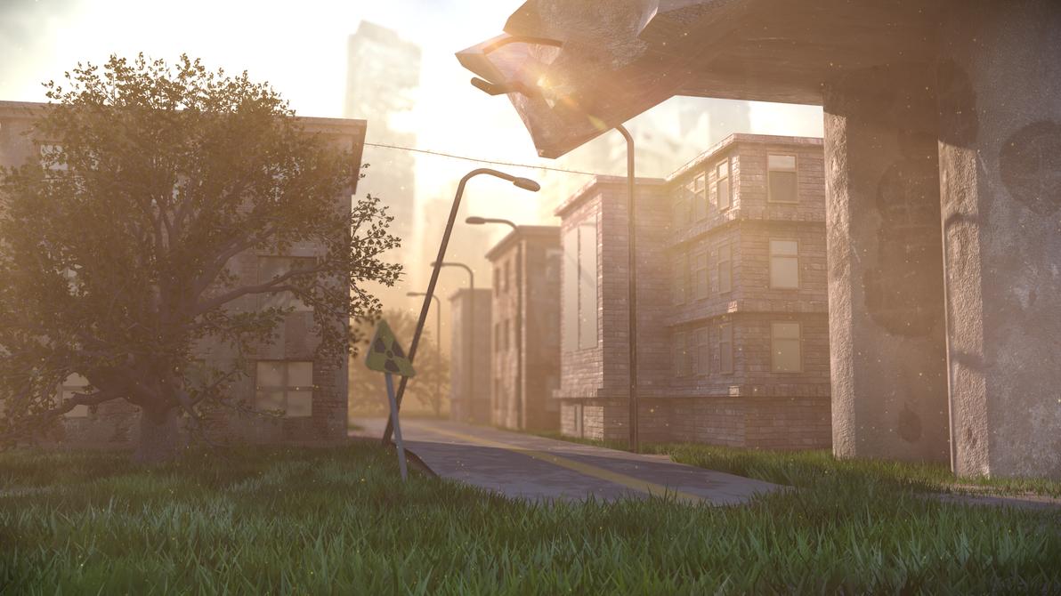 Abandoned city by Izeer