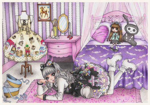 First commission- a Lolita in her room