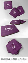 Cup Pad Mockup by Funialstwo