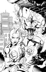 Savage Dragon and She-Dragon