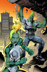 Savage Dragon She-Dragon color
