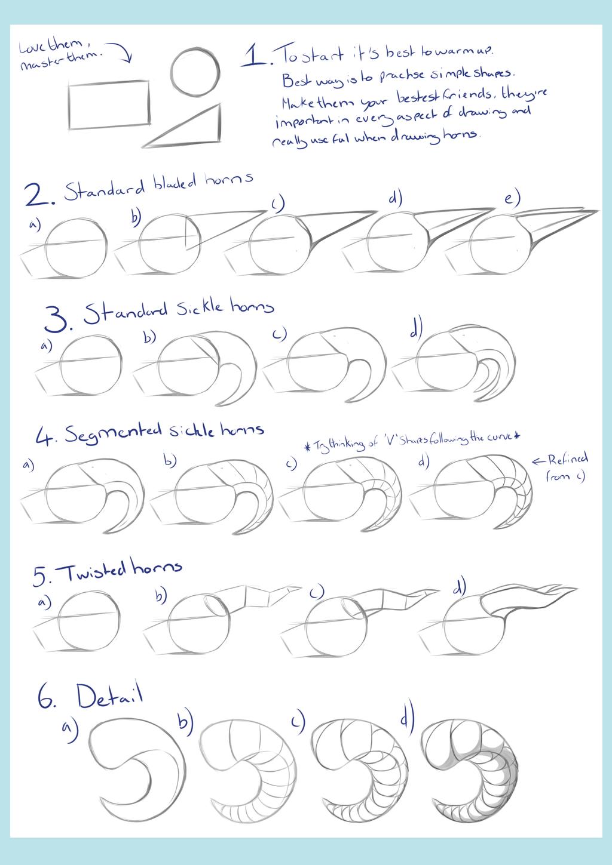 Basic Horns Tutorial by IrishWolven
