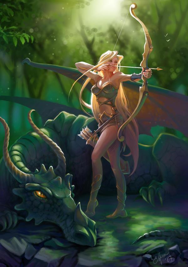 Green Dragon by Elfessa