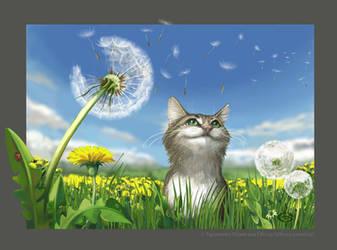 Gentle cat by Elfessa