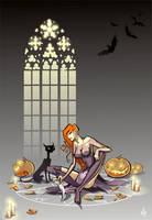 Witch on Halloween by Elfessa