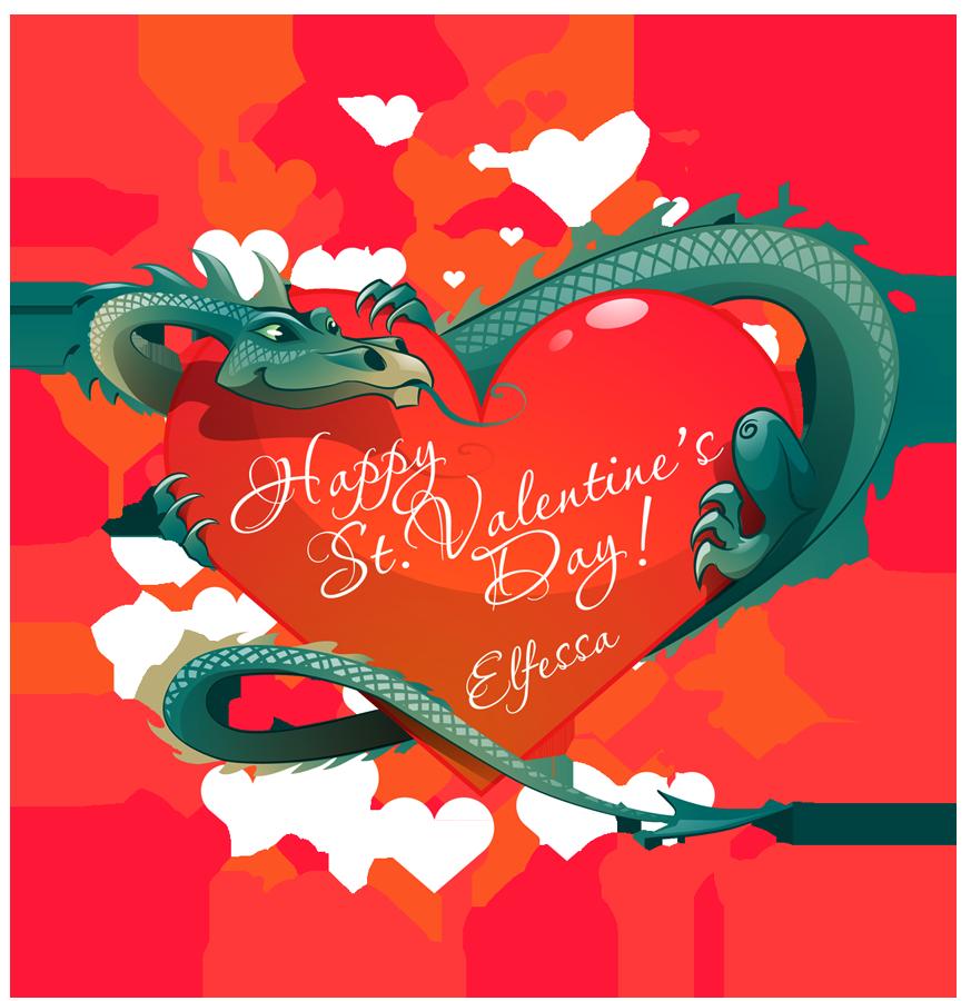 Valentine Dragon by Elfessa