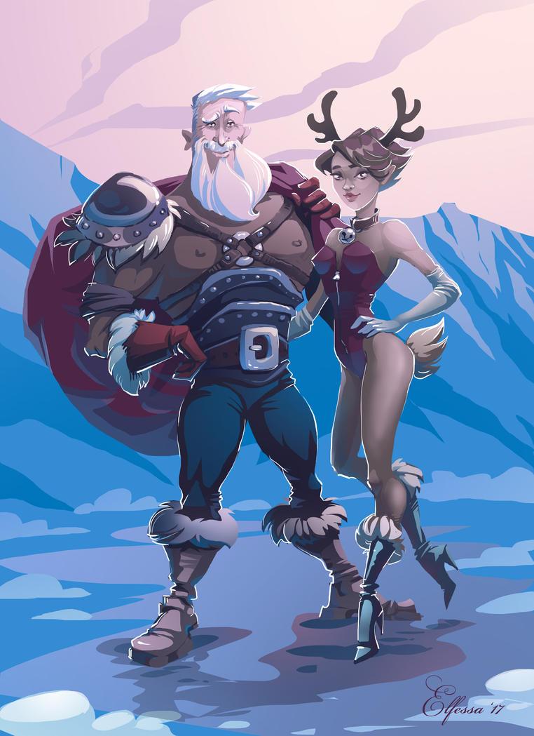 Barbarian Santa with Rudolphina))) by Elfessa