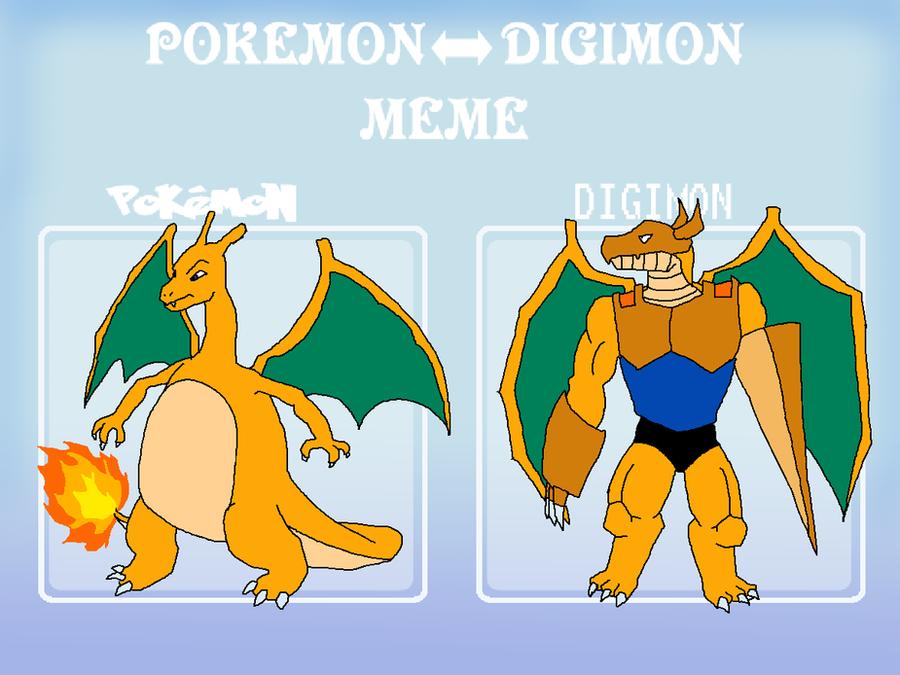 pokemon_digimon_meme__charizard_zardramon_by_skyewars d5htms1 pokemon digimon meme charizard zardramon by skyewars on deviantart