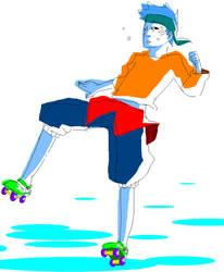Rollerskating Kisame by Akagumo