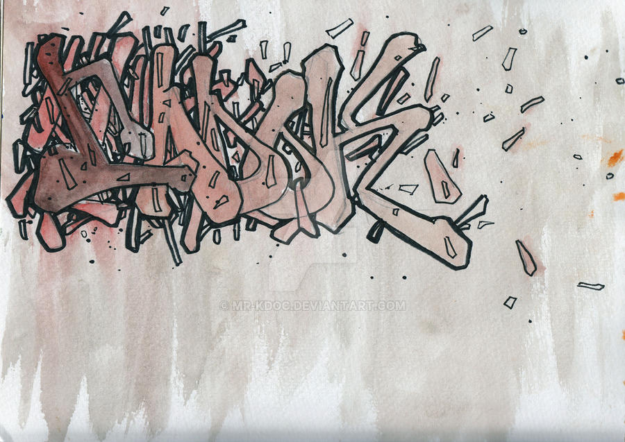 graffiti letters 5 by Mr-Kdoc