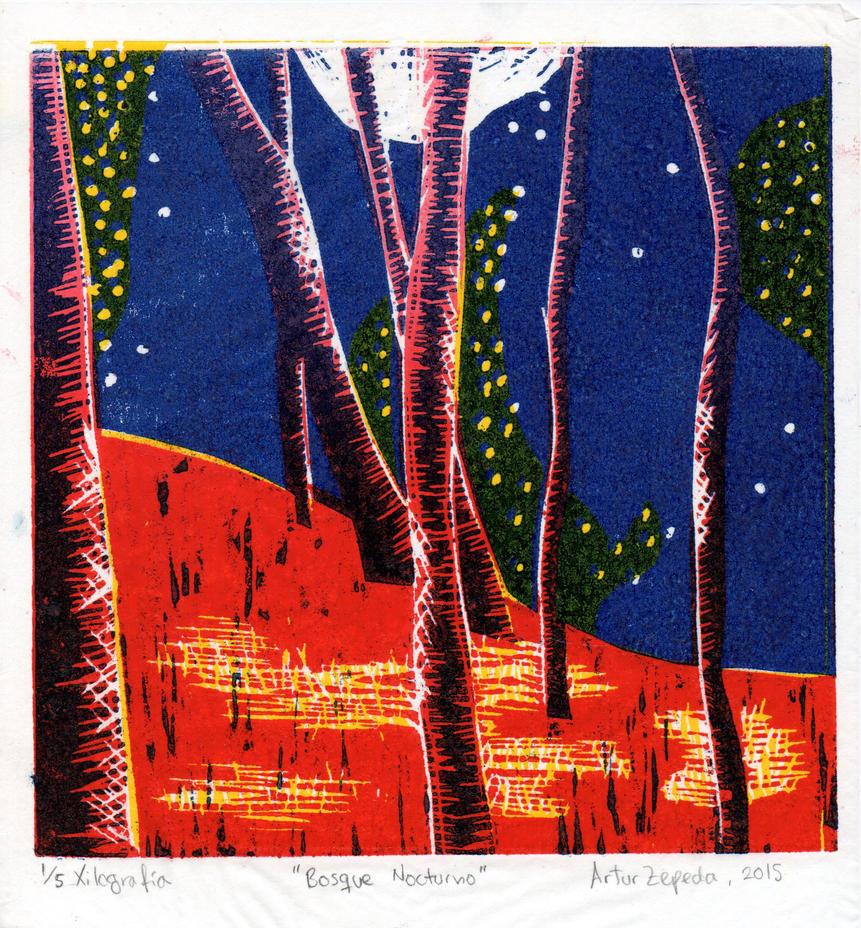 Night Forest by generalmokka