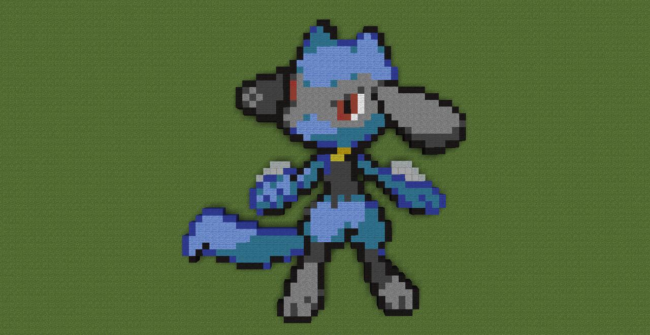 pixel art lucario