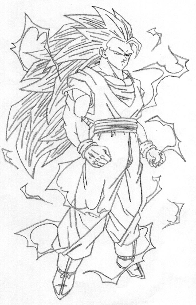 Super Saiyan 4 Gogeta Coloring Pages