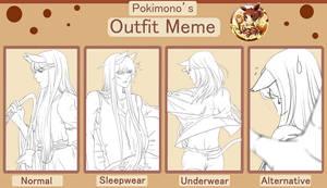 pokimono clothes meme-Rigel by vanilla-rain