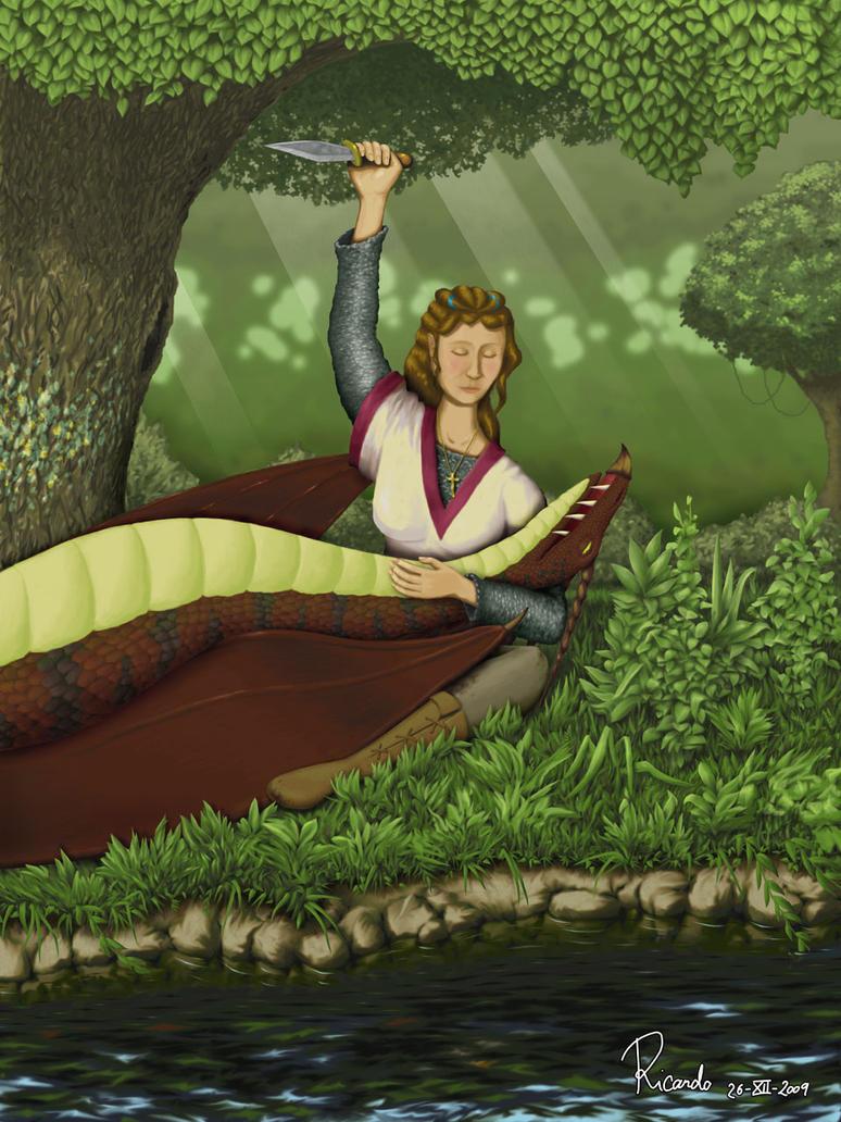 Dama y dragon by KantxoDesign2010
