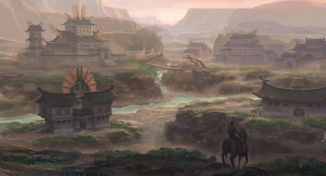 kind of eastern village by MCfrog