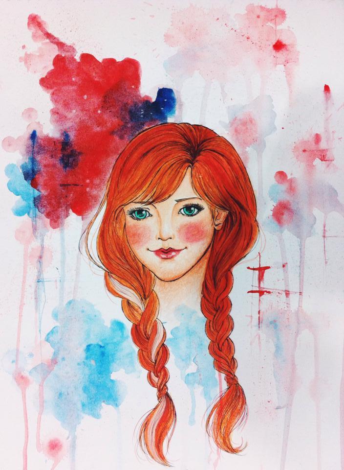 Anna, Disney Frozen by mervyvalencia