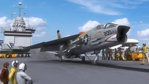 F-8E On Catapult