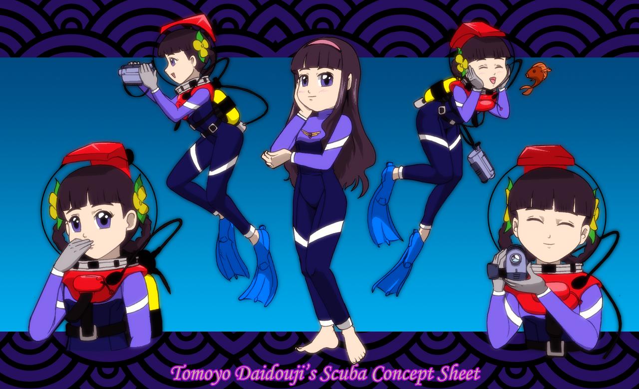 Tomoyo Daidouji Scuba Concept Sheet by Severflame