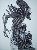 Aliens colonial marines fan art  by MasterVezz