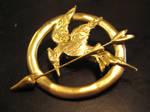 Katniss' mockingjay pin